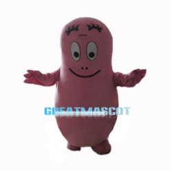 Wise Pink Barbapapa Mascot Costume