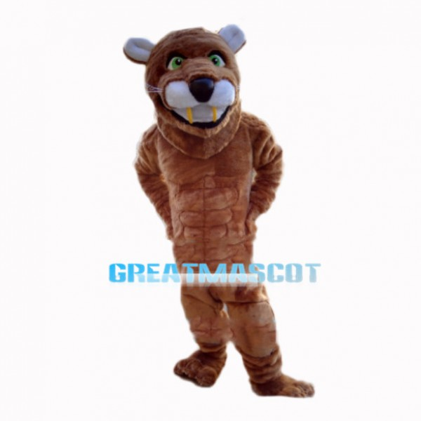 Casual Muscle Lion Mascot Costume