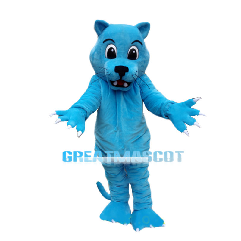 Blue Leopard With Sharp Claws Mascot Costume