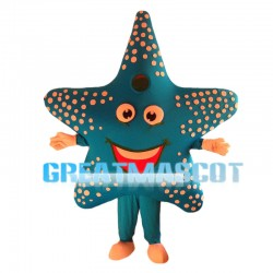 Blue Gray Starfish Mascot Costume