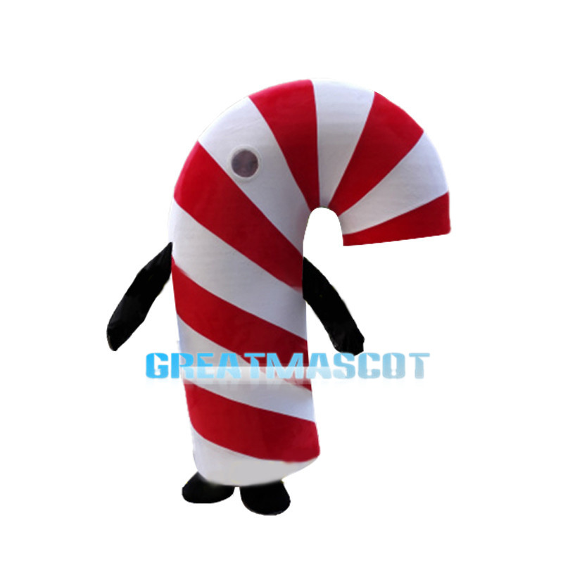 Candy Cane Mascot Costume For Christmas Decoration