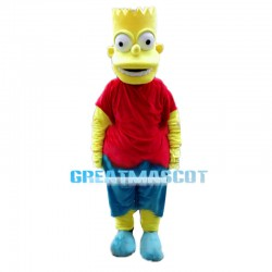 Naughty Cute Boy Bart Simpson Mascot Costume