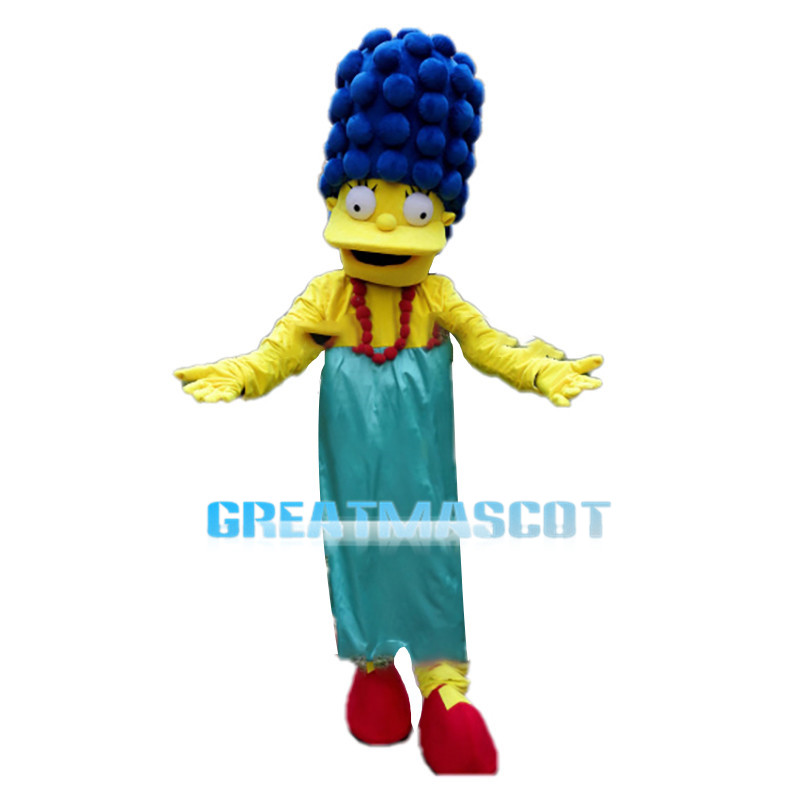 Inclusive Mother Marge Simpson Mascot Costume