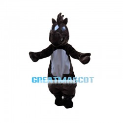 Standing Horse With Erect Horsehair Mascot Costume