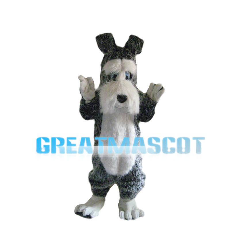 Grey Dog With Low Mood Mascot Costume