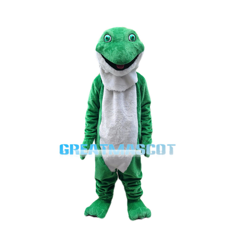 Crafty Snake With Green Eyes Mascot Costume