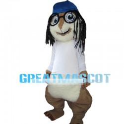 Rock Chipmunk With Dirty Braid Mascot Costume