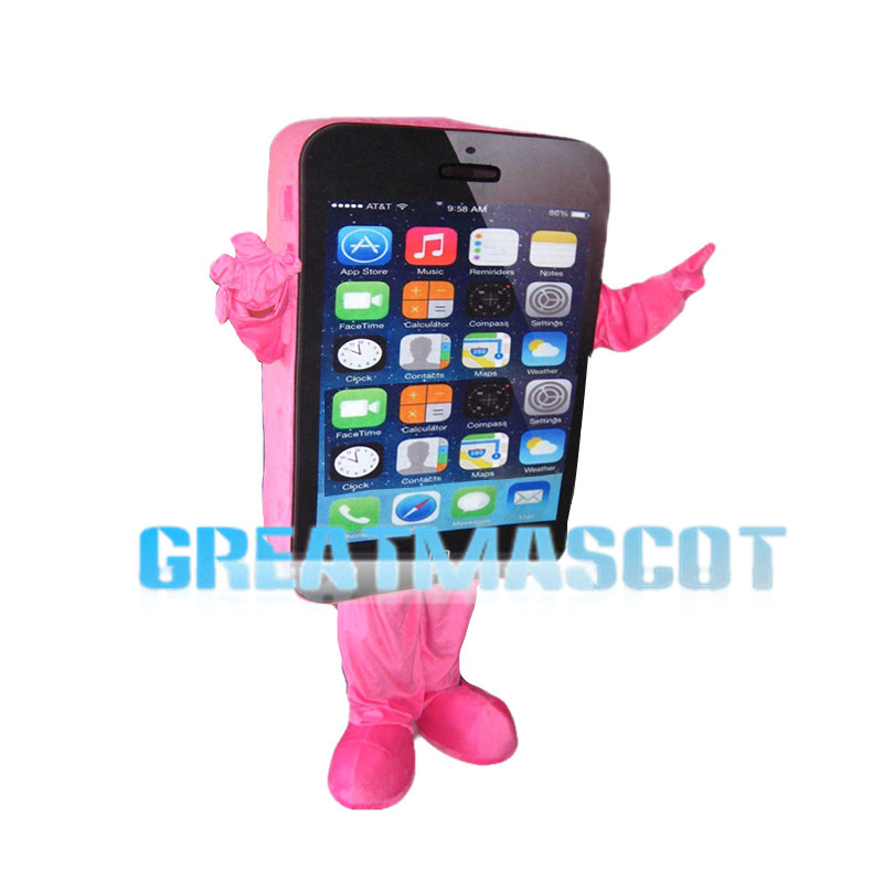 Pink Cell Phone Mascot Costume