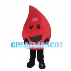 Cartoon Red Raindrop Mascot Costume