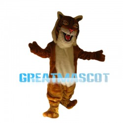 Majestic Brown Tiger Mascot Costume