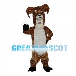 Long Neck Brown Goat Mascot Costume