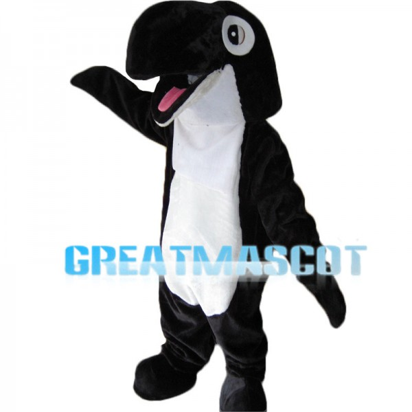 Black & White Dolphin Mascot Costume