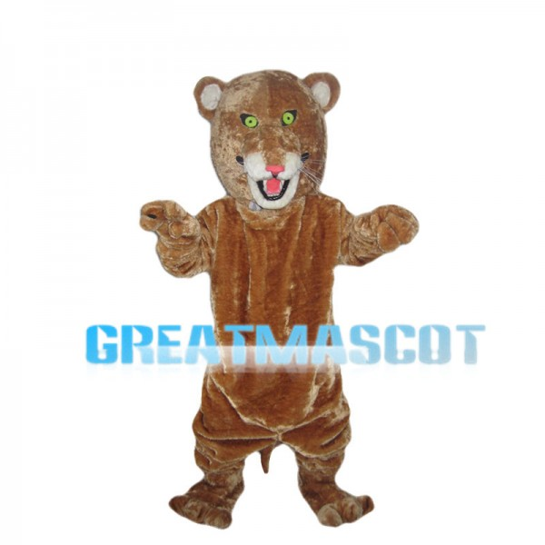 Small Eyes Brown Tiger Mascot Costume
