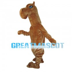 Brown Horse With Blue Eyes Mascot Costume