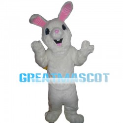 Hairy White Rabbit Mascot Costume
