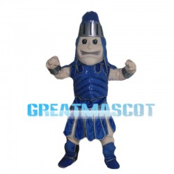 Blue Fighting Soldier Mascot Costume