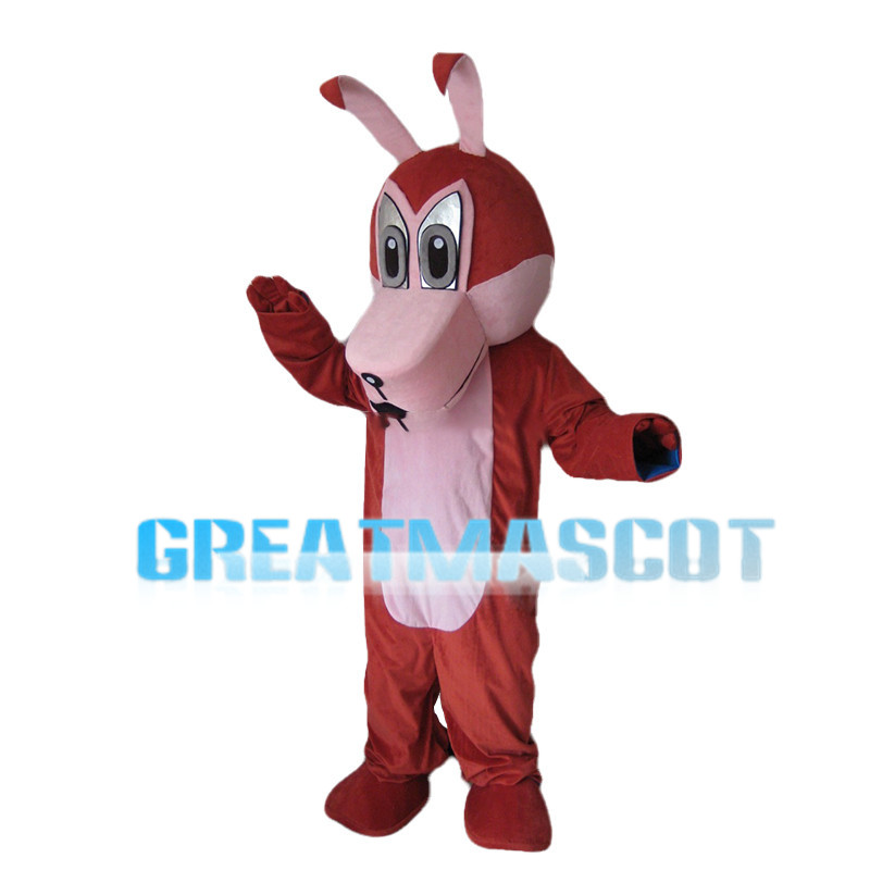 Red & Pink Wolf Mascot Costume