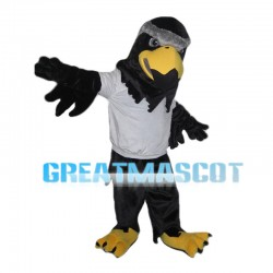 Black Eagle With White Top Mascot Costume