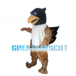 Brown & White Bird Mascot Costume
