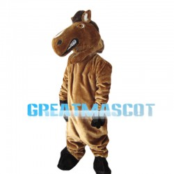 Brown Wild Horse Mascot Costume