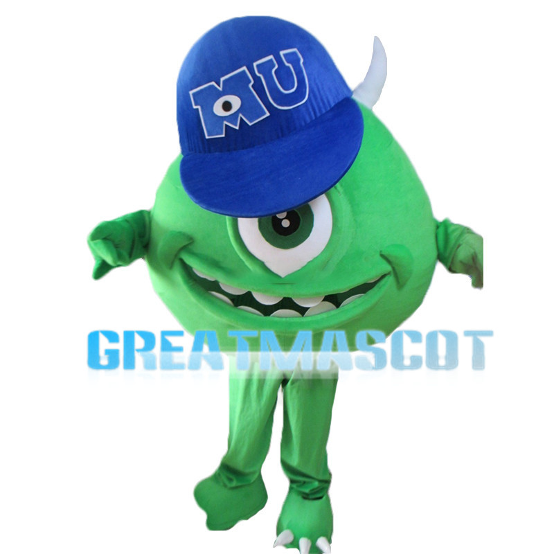 Green Monocular With Cap Mascot Costume
