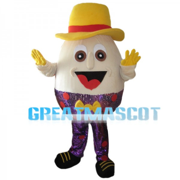 Beige Doll With Purple Sequins Mascot Costume
