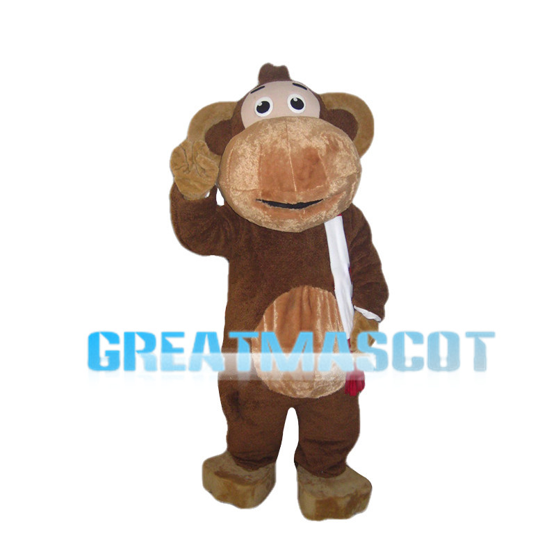 Clever Monkey With Big Mouth Mascot Costume