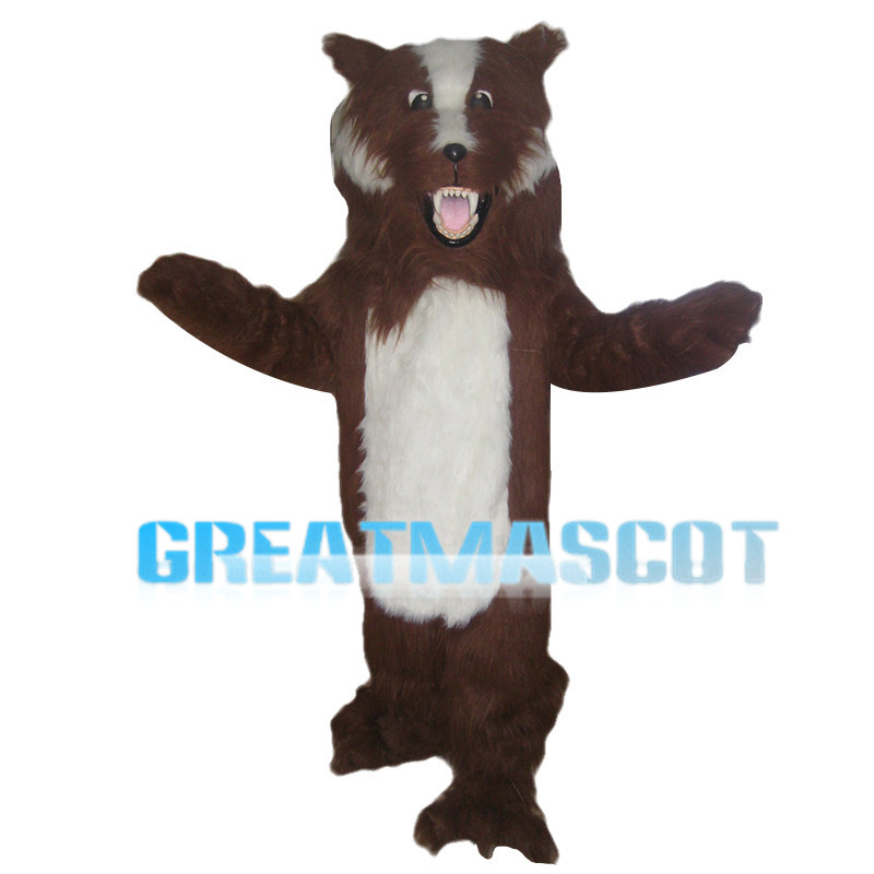 Scary Large Brown Dog Mascot Costume