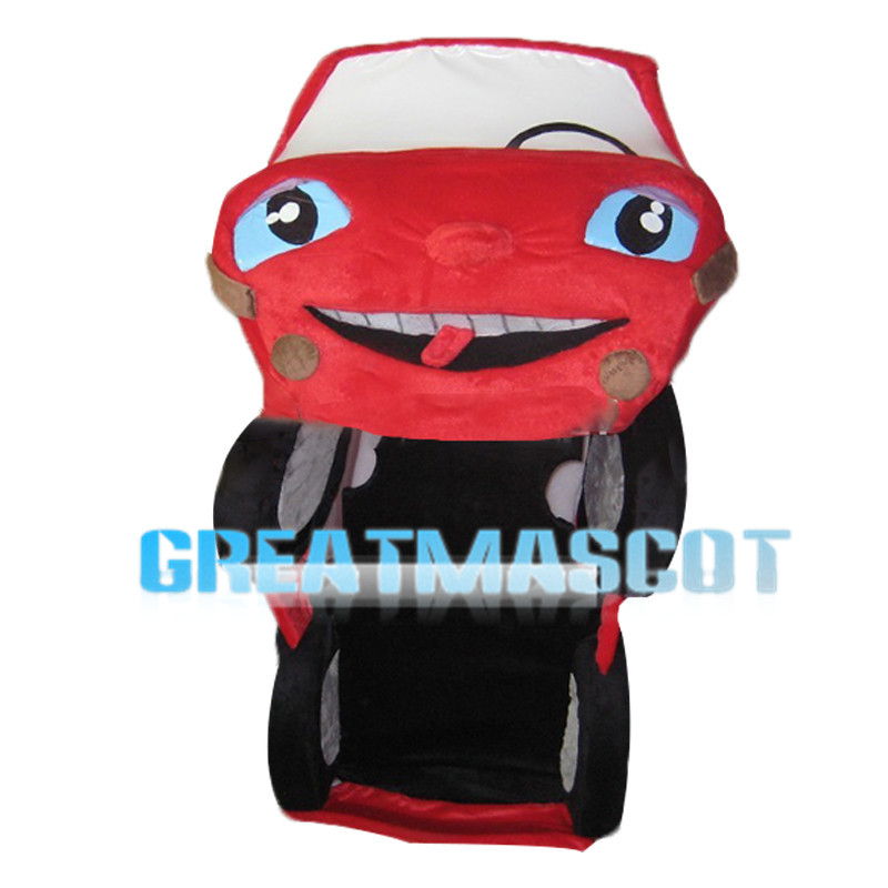Opened Red Car Mascot Costume