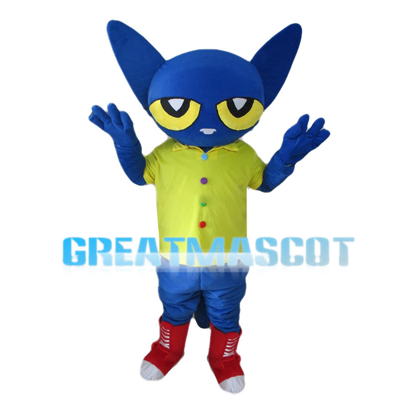 Blue Pete Cat Mascot Costume