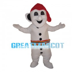 Special Look White Snowman Mascot Costume