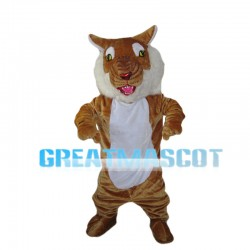 Roaring Tiger With Red Nose Mascot Costume