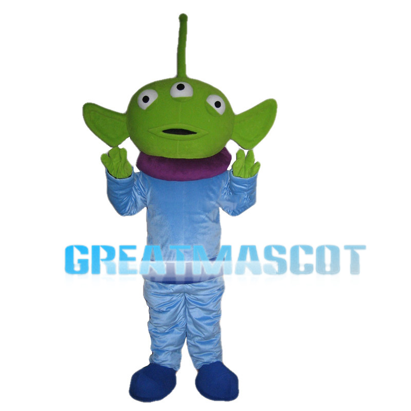 Green Monster With Three Eyes Mascot Costume