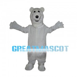 Pure Polar Bear Mascot Costume