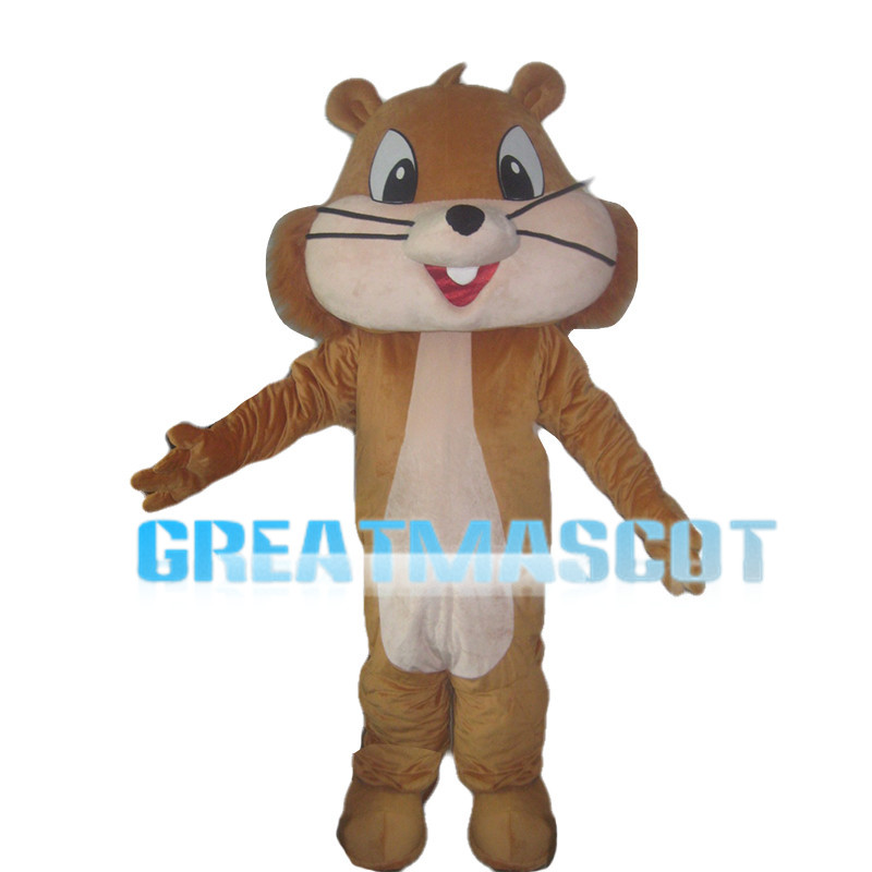 Big Head Brown Chipmunk Mascot Costume