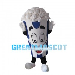 Full Blue Popcorn Bucket Mascot Costume