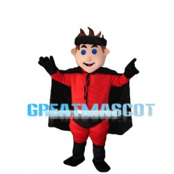 Blue Eyes Man With Cloak Mascot Costume