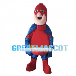 Fat Superman With Headgear Mascot Costume