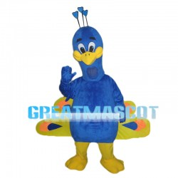 Opening Blue Peacock Mascot Costume