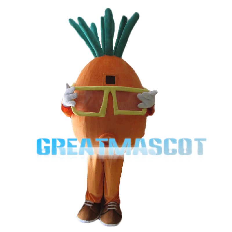 Carrot With Yellow Frames Mascot Costume