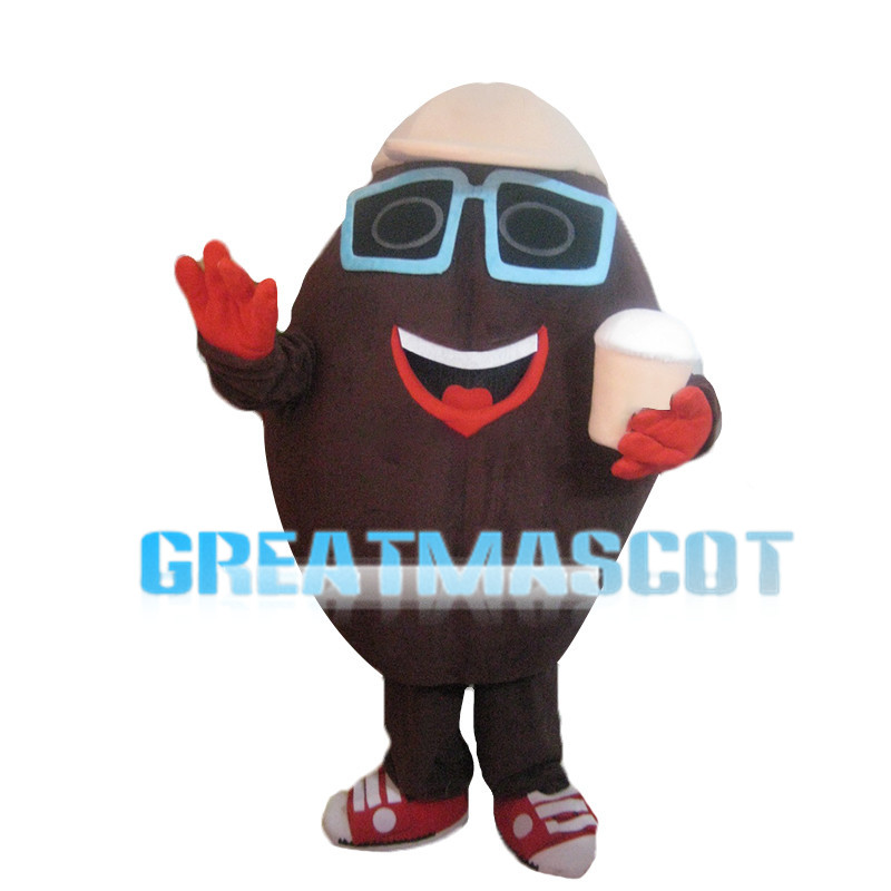 Coffee Bean With Coffee Mascot Costume