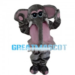 Elephant With Pink Gauze Skirt Mascot Costume