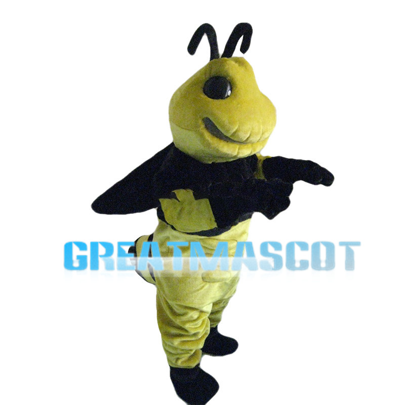 Commanding Big Bee Mascot Costume