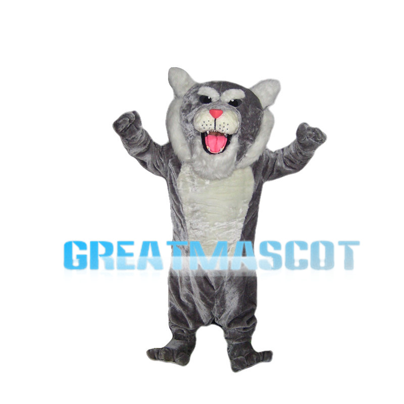 Bellowing Grey Tiger Mascot Costume