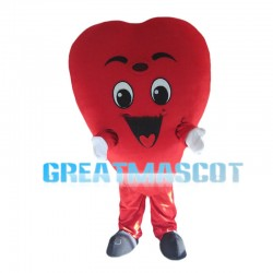 Red Heart Mascot Costume