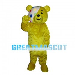 Ribbon Bear Mascot Costume