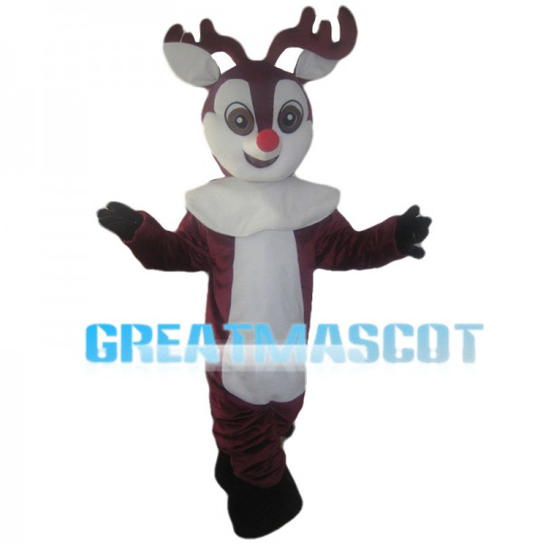 Red Brown Little Moose Mascot Costume