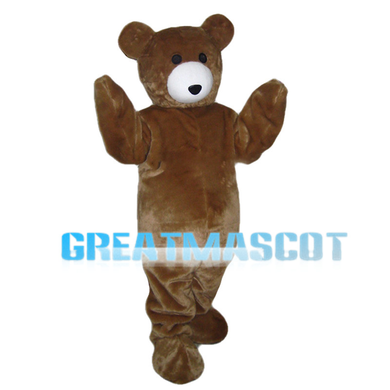 Cartoon Cute Brown Bear Mascot Costume