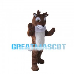 Fawn With Small Horns Mascot Costume