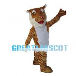 Turned Tiger Mascot Costume